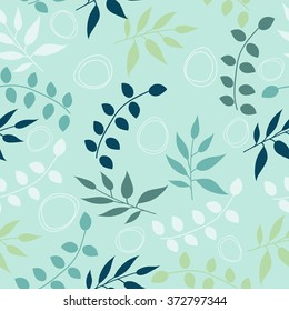 Seamless leaf pattern. Floral stylish background. Vector background.