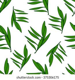 Seamless leaf pattern. Vector illustration.