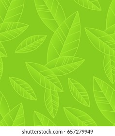 Seamless leafs pattern. Floral stylish background. Vector background.Eps 10