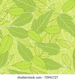 Seamless with leaves. Vector illustration.