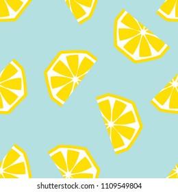 Seamless lemon geometric pattern, vector illustration. Design backgrounds for invitation, brochure and promotion template