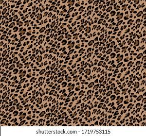 Seamless leopard design pattern vector.