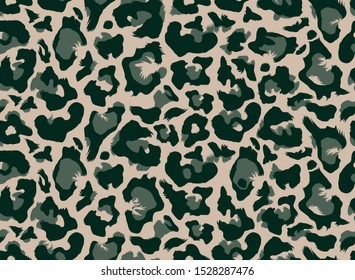 Seamless leopard fur all over pattern