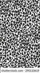 Seamless leopard pattern. Black, grey and white animal background.