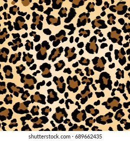 Seamless leopard pattern can be used for graphic design textile design or web design.