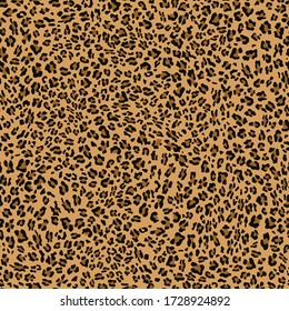 Seamless leopard pattern vector background classic stylish design for printing clothes, fabrics. Animal skin .