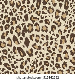 Seamless leopard pattern. Vector illustration.