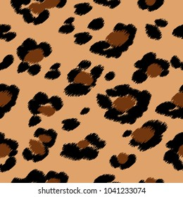 Seamless leopard print. Vector pattern, texture, background