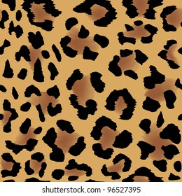 Seamless leopard skin pattern for cool background
