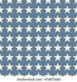 Seamless light blue fashion stars pattern vector