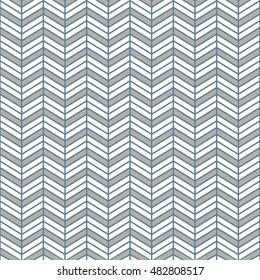Seamless light blue interchanging chevrons pattern vector