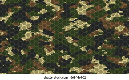 Hexagonal Camouflage Images, Stock Photos & Vectors | Shutterstock