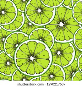 Seamless lime background. Can be used for background sites, fabrics, bymagi, etc. Vector illustration