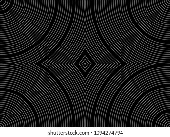 Seamless line arc vector. Design thin line with space white on black background. Design print for textile, fabric, wallpaper, background. Set 1