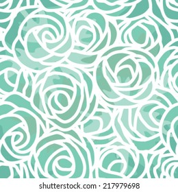 Seamless Line Art Flower Background Pattern