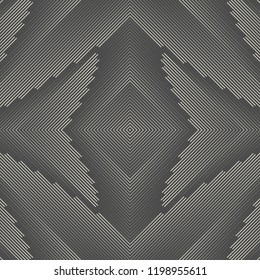 Seamless Line Background. Vector Plaid Pattern. Monochrome Regular Texture