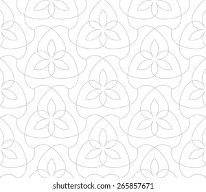 Seamless linear pattern. Stylized floral ornament.