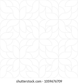 Seamless linear pattern with thin curl lines and scrolls. Monochrome abstract floral pattern. Decorative lattice.