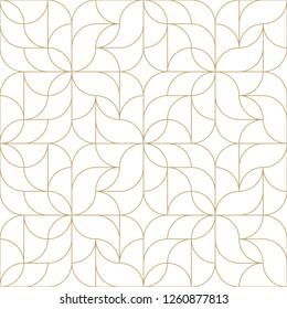 Nahtloses lineares Muster mit dünnen Linien und Rollen. Monochrome abstrakte, florale lineare Muster. Ziergitter. Vektorrapport für Armbanduhren.
