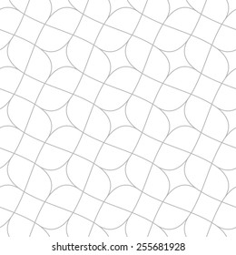 Seamless linear pattern with thin curl lines and scrolls.Monochrome texture