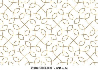 Nahtloses lineares Muster mit dünnen Linien und Rollen.  Endlose elegante Linie mit Knoten und Schleifen. Vektorrapport um den Hintergrund zu füllen, Lasergravur und Schneiden.