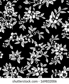 Seamless lined background  beautiful black and white batik.