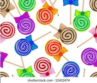 Seamless lollipops background