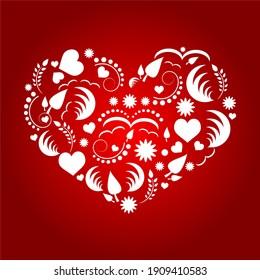 Seamless Love Pattern Doodle Vector Illustration