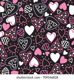 seamless love pattern vector illustration