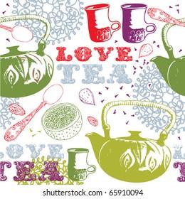 seamless love tea background