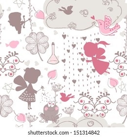 seamless love theme pattern