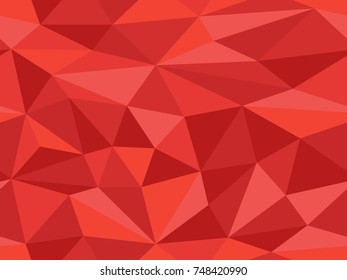 Seamless low poly pattern in Red from the Material Design palette