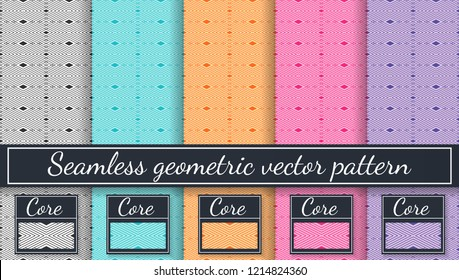 Seamless lozenge vector pattern. Abstract geometric pattern in multiple colors. Rhombus background. Pattern cores.