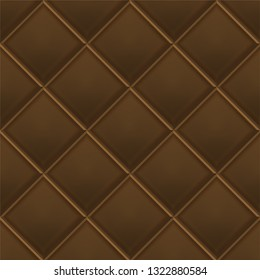 Seamless luxury dark chokolate pattern and background. Genuine Leather. Vector illustration