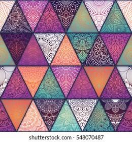 Seamless mandalas pattern. Vintage decorative elements with mandala. Hand drawn mandala background. Islam, Arabic mandala, Indian, mandala ottoman motifs. Perfect for printing on fabric or paper.