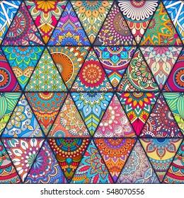 Seamless Mandalas Pattern Vintage Decorative Elements With Mandala Hand Drawn Background Islam