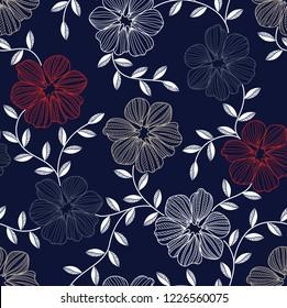 seamless Marmot  flower pattern