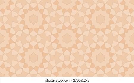 Seamless Mashrabiya Style Pattern in Caramel