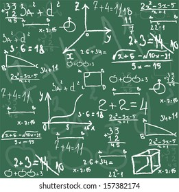 Seamless math elements on school board.