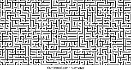 Seamless maze pattern