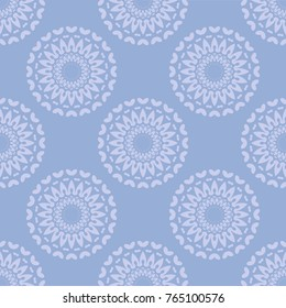 Seamless medallion pattern, vector. Vintage endless texture with circular elemnts