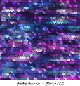 Seamless mermaid sequined texture - vector illustration eps10