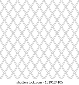 Seamless mesh pattern. Abstract net texture. White and grey background. Vector art.