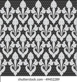 seamless metal doted ornate pattern