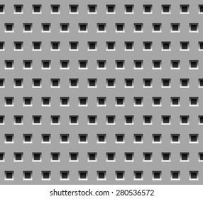 Seamless metal texture. with square holes