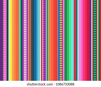 seamless mexican rug pattern. serape stripes vector