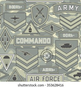 Seamless military pattern number eleven can be used for graphic design, textile design or web design.