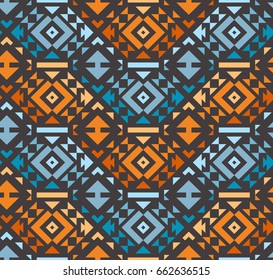 Seamless Modern Geometrical Pattern. Mix of Triangles. Vector Background for Textile Design