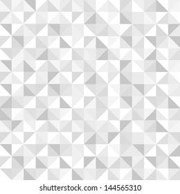 Seamless monochromatic geometric pattern. Vector background
