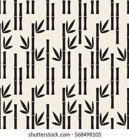 seamless monochrome bamboo pattern background
